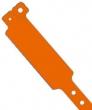 Vinyl polsbandjes, fluo oranje